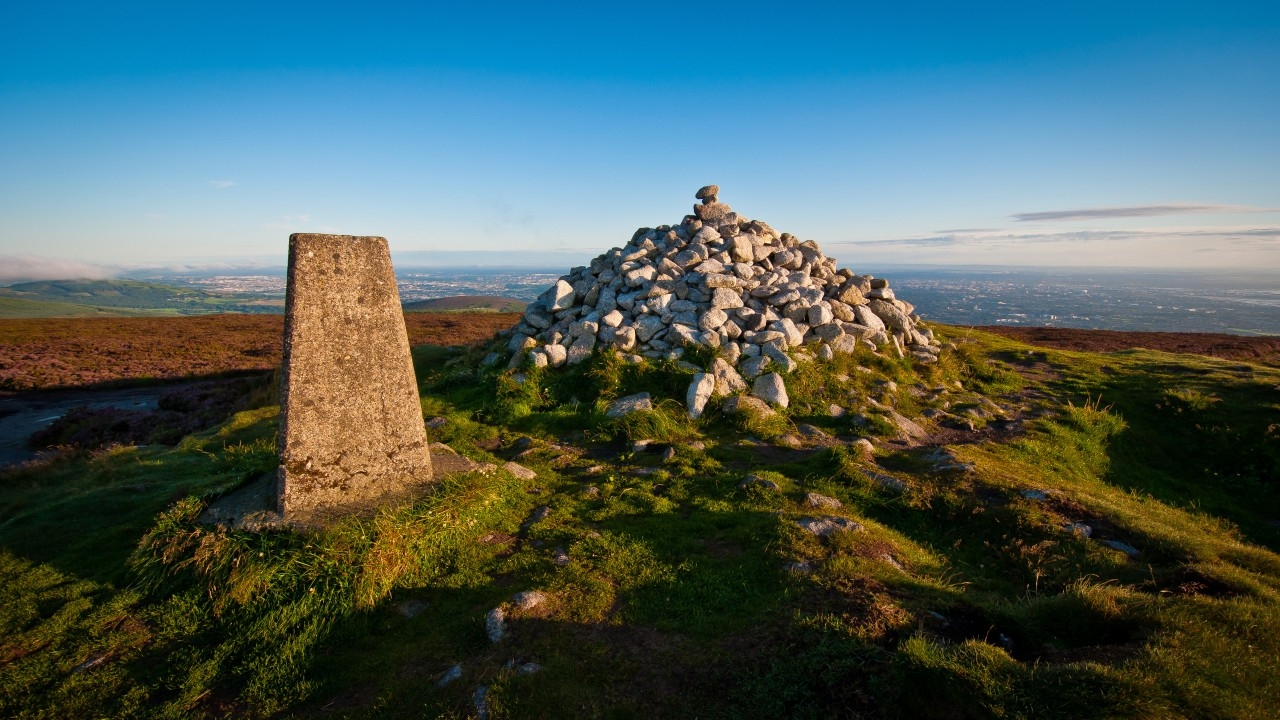 Fairy Castle Cairn and Trig Pillar
