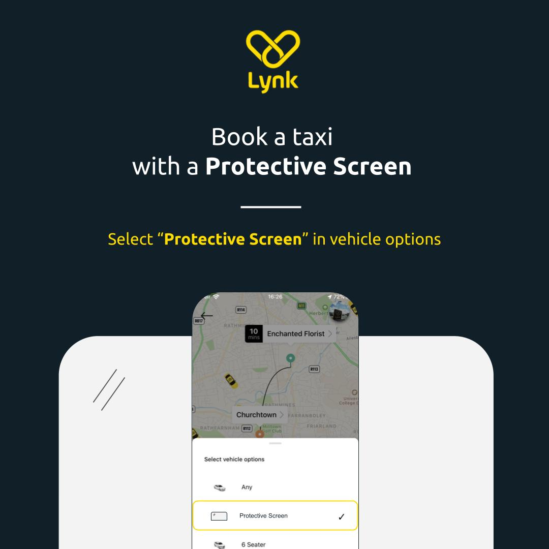booking a proctective screen taxi
