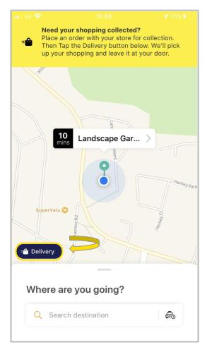 Delivery feature on Lynk app