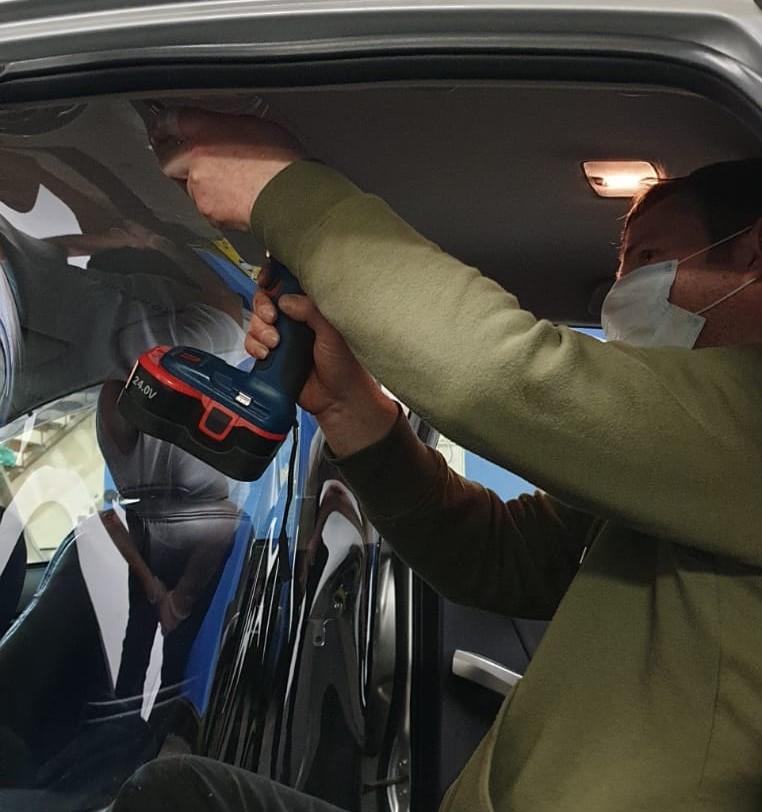 taxi protective screen